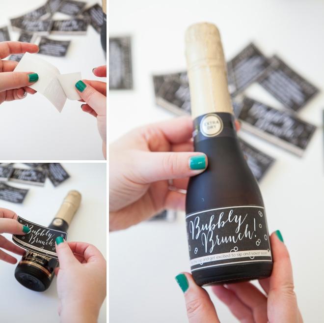 make these darling mini champagne brunch invitations. Black Bedroom Furniture Sets. Home Design Ideas