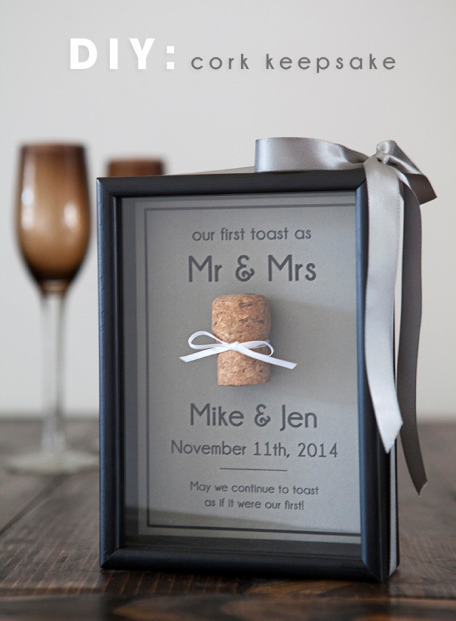 Save your special cork with this darling and simple DIY!