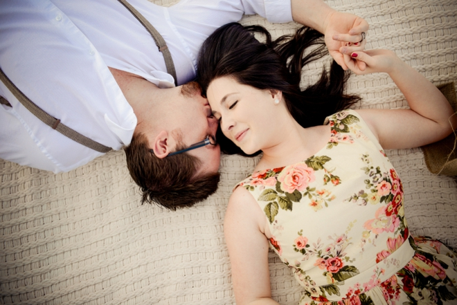 Vintage themed engagement shoot