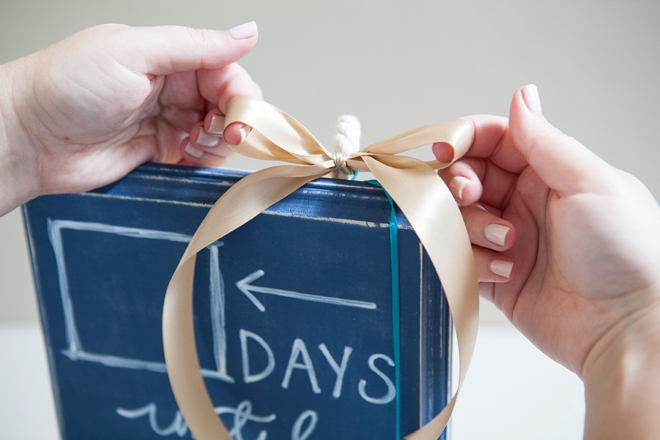 DIY Wedding Countdown Chalkboard Sign
