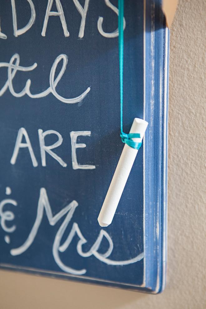 DIY Wedding Countdown Sign