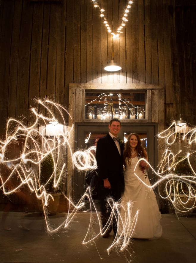 Wedding sparkler picture
