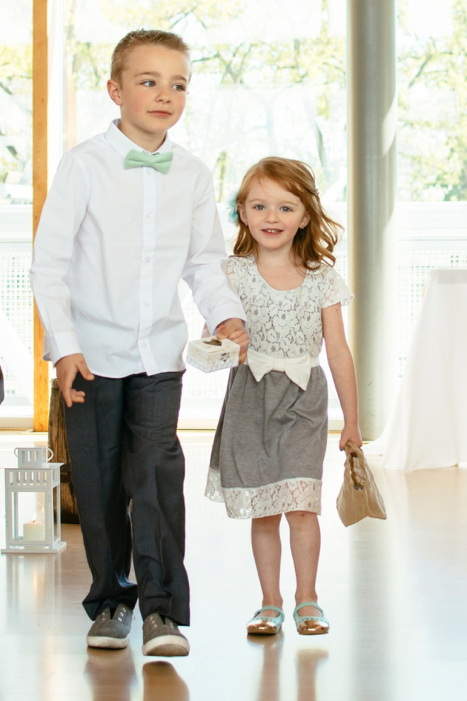 Darling ring bearer and flower girl