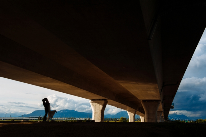 Under the bridge portrait