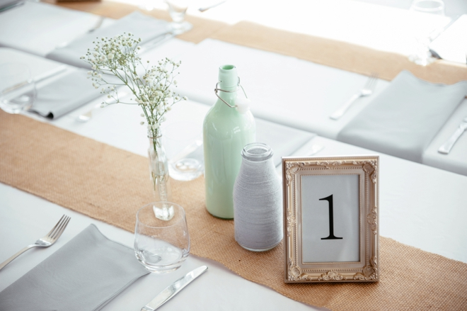 Simple table number in a frame