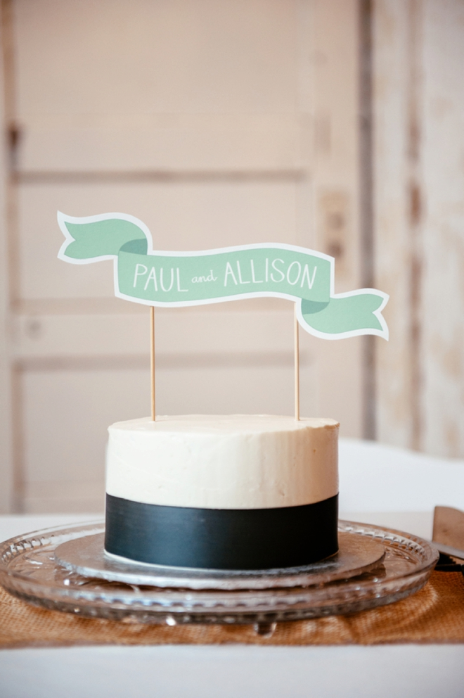 Darling cake topper banner