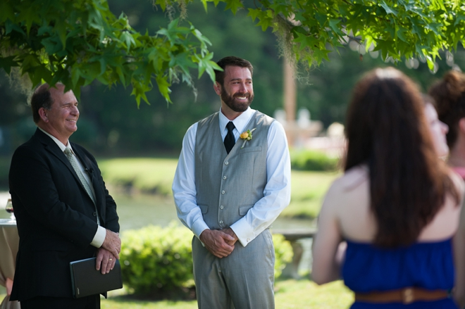 the groom sees the bride