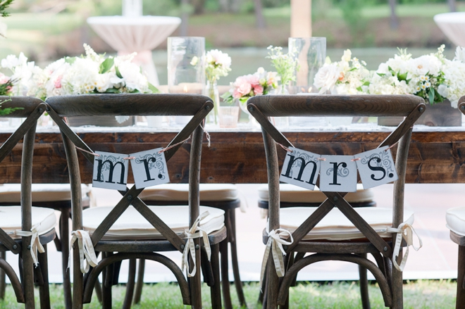 mr and mrs reception chairs