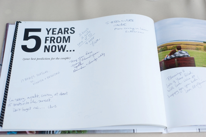 5 years from now guest book