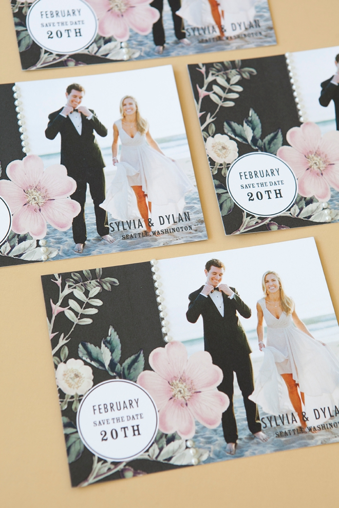 Learn how to embellish store bought wedding invitations!