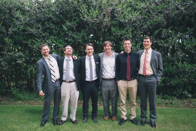 Boho groomsmen