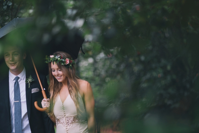 Lovely boho wedding in the rain...