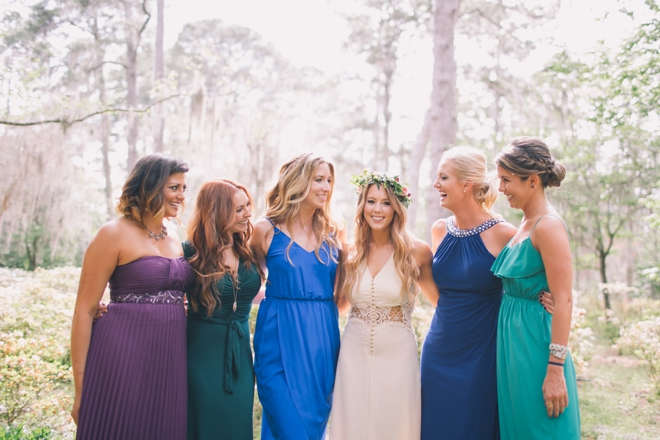 Gorgeous jewel toned bridesmaid