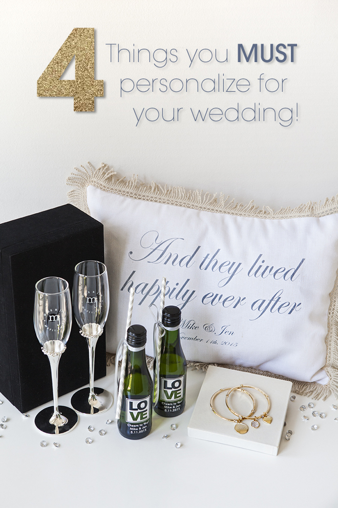 4 things you must personalize for your wedding