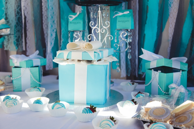 This Tiffany Co themed bridal shower is a must see