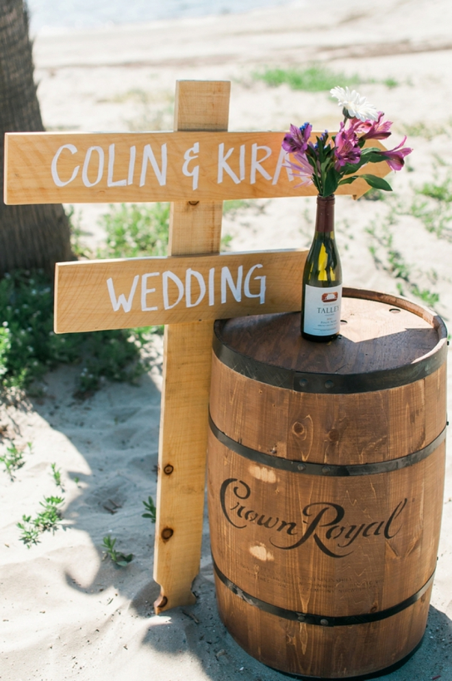 wine wedding sign