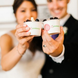 pinkberry wedding dessert