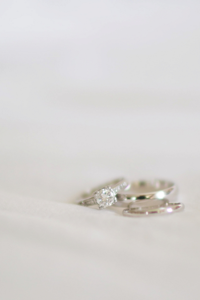 Beautiful wedding rings shot