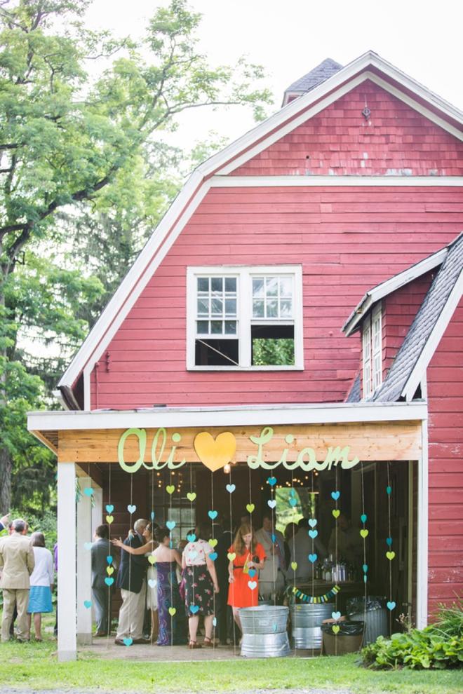 DIY barn wedding reception