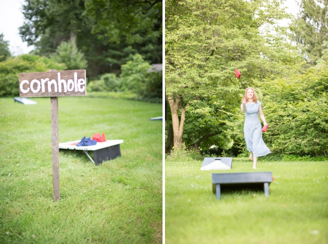 Wedding corn hole