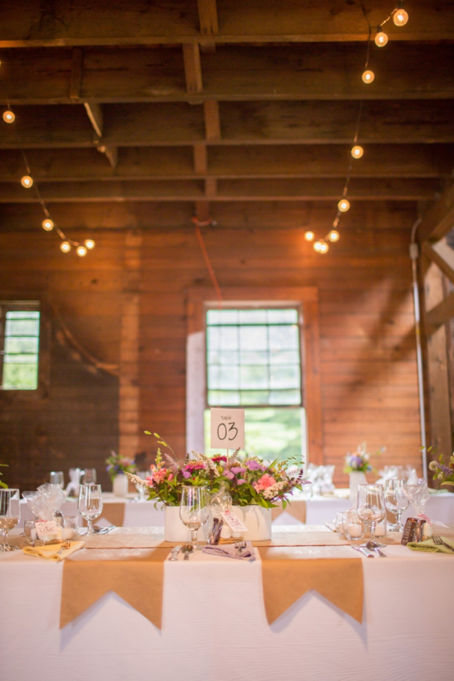 DIY barn wedding decor