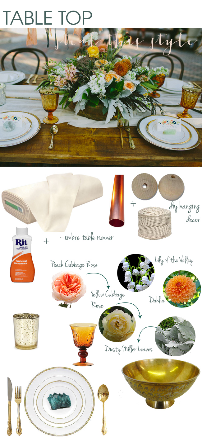 Steal this style - Indian Summer inspired tablescape