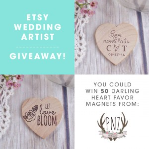 Etsy Wedding Artist Giveaway from PNZ Designs