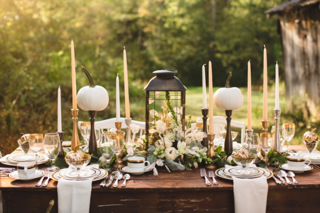 Metallic Fall Wedding inspiration