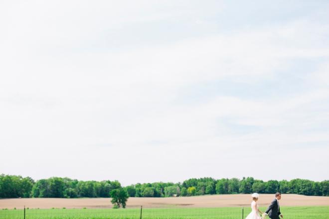 Vintage chic barn wedding