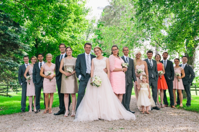 Vintage chic bridal party