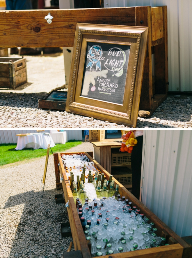 Wedding beer trough