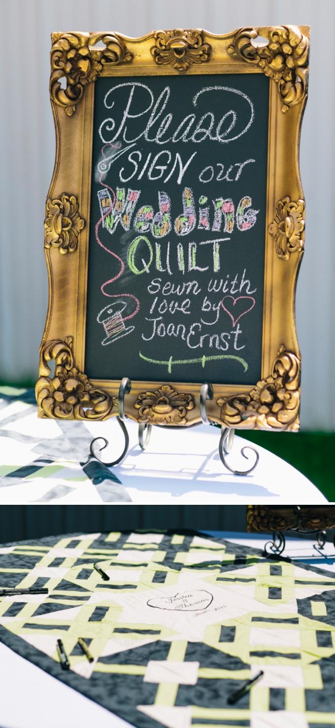 Wedding Quilt Guest book