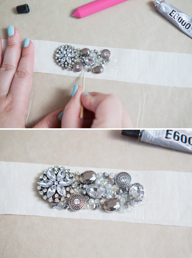 Learn how to make this chic diy rhinestone bridal sash diy rhinestone bridal sash solutioingenieria Choice Image