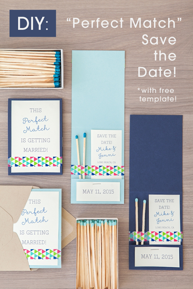 Learn how to DIY these chic Perfect Match Save the Dates