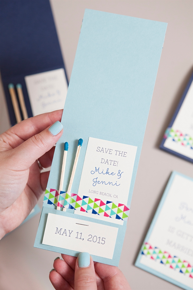 Learn how to diy these chic perfect match save the dates diy perfect match save the date invitations junglespirit Choice Image