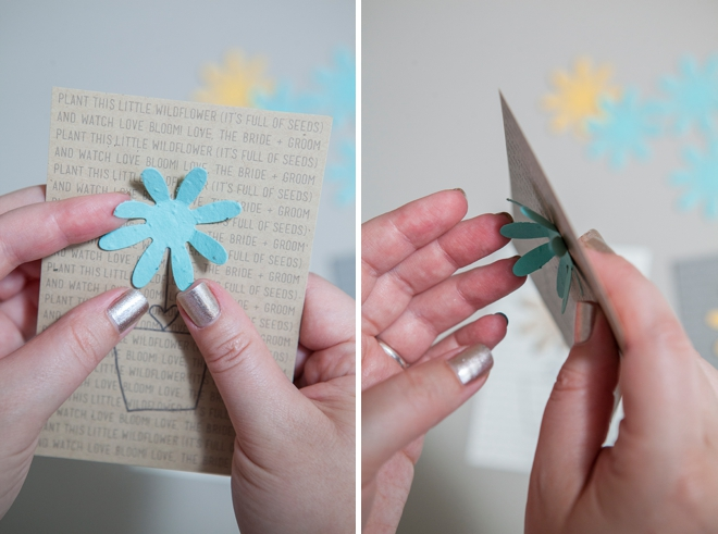 DIY plantable seed paper favor card