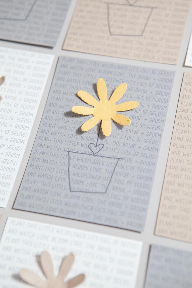 DIY plantable seed paper favor card