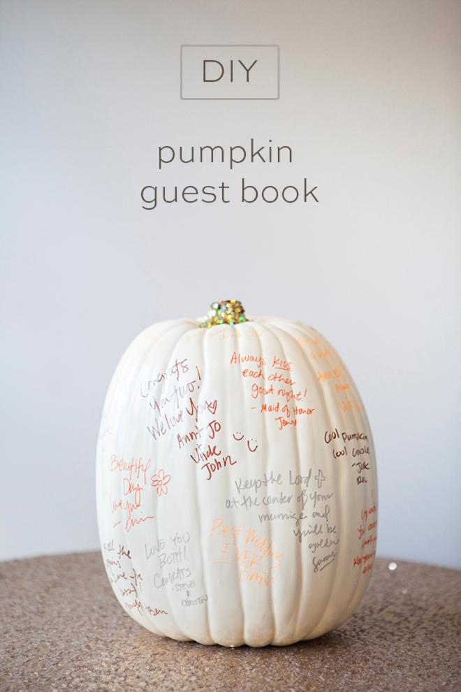 Learn How To DIY A Darling Pumpkin Guest Book