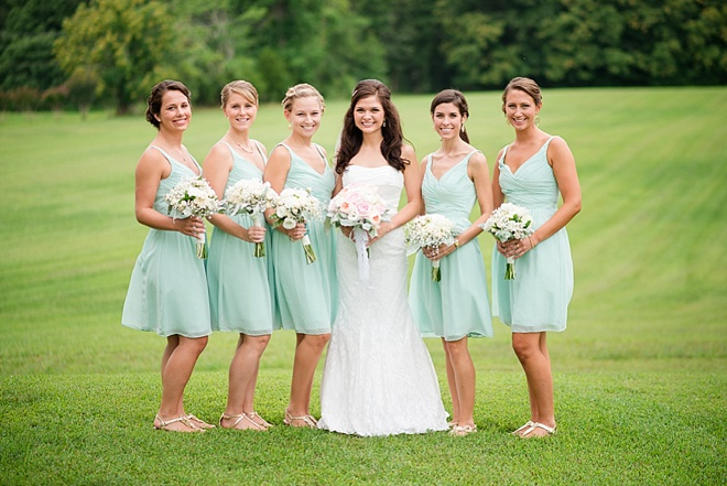 Turquoise Bridesmaid Dresses DIY Rustic Barn Wedding