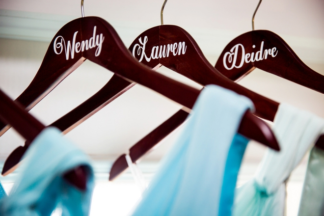 Wedding name hangers