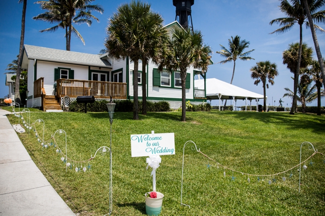 Welcome to our beach wedding
