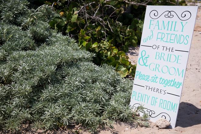 Wedding seating sign