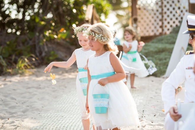 Beach flower girls