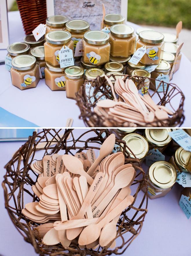 DIY honey favors