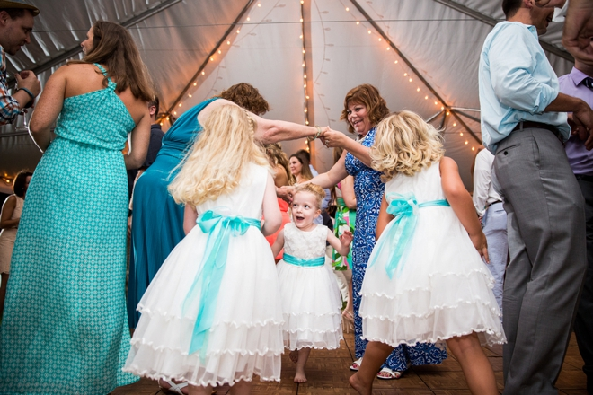 Flower girls dancing