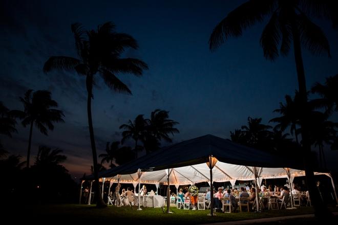 Tent wedding at night