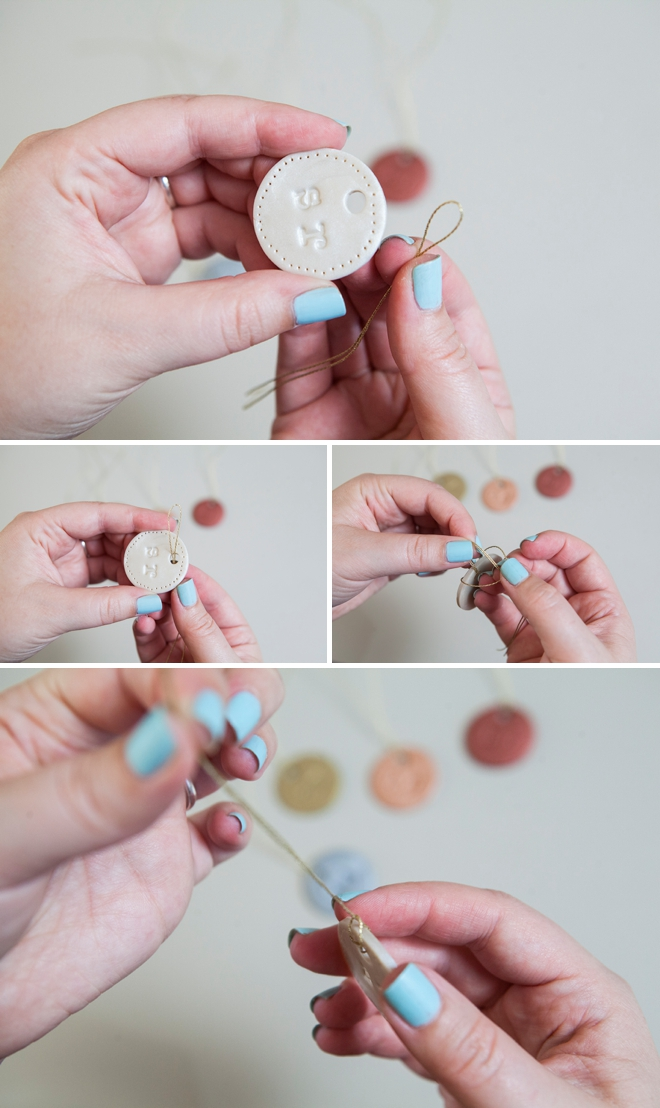 DIY clay wedding bouquet charm