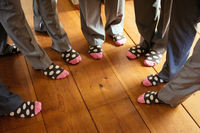 Matching groomsmen socks