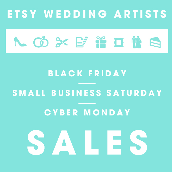 Etsy Wedding Artist Holiday Sales!