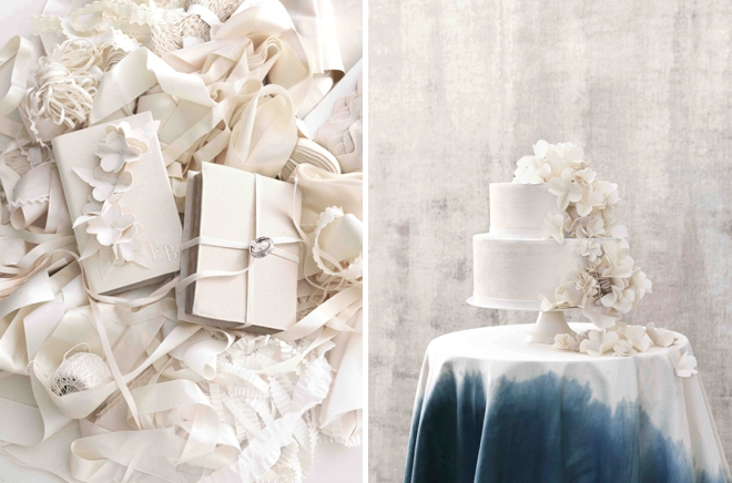 Canvas Vow Notebooks And Cake Inspired Table From Martha Stewart Weddings
